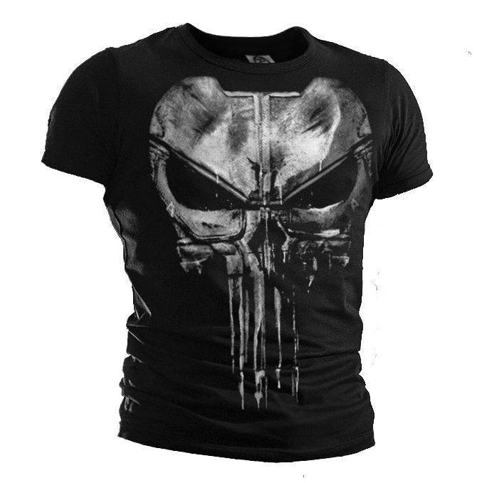 f1e45d55b5f Compre Novo The Justiceiro Punisher Camiseta Daredevil Punisher Algodão  Casual Manga Curta Tops T Para Homens T Camisas De Xinlangcom
