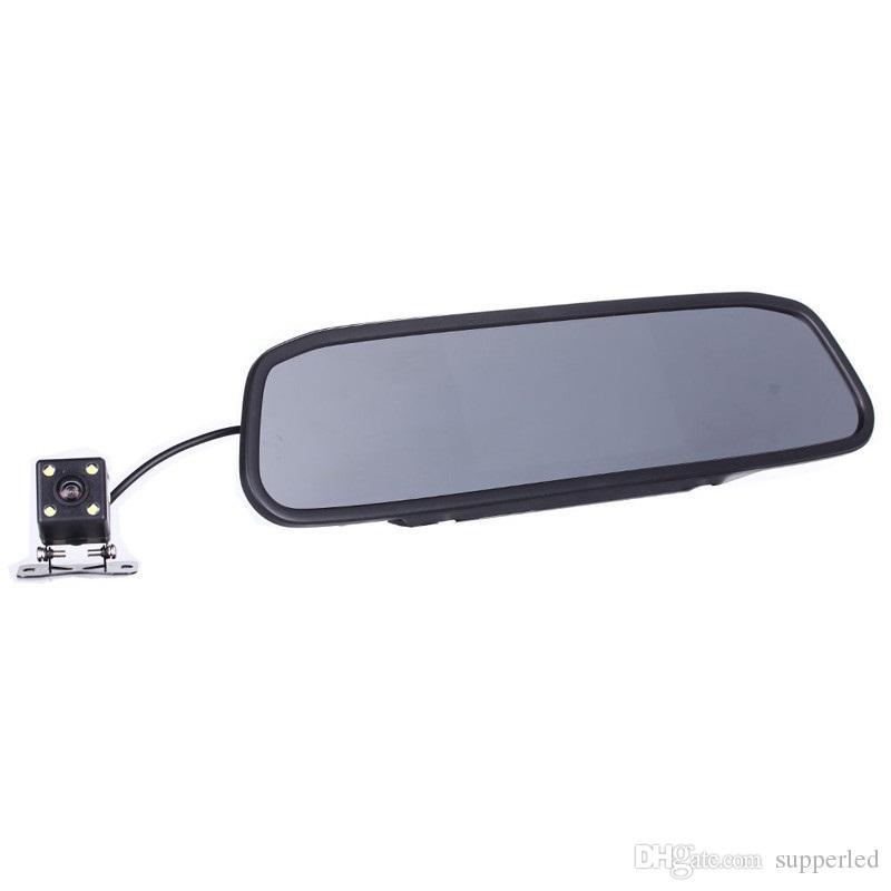 Visione notturna automatica del monitor LED di parcheggio dell'automobile del video dell'automobile HD che inverte la macchina fotografica di retrovisione dell'automobile del CCD con il monitor a specchio dello specchio retrovisore dell'automobile da 4.3 pollici