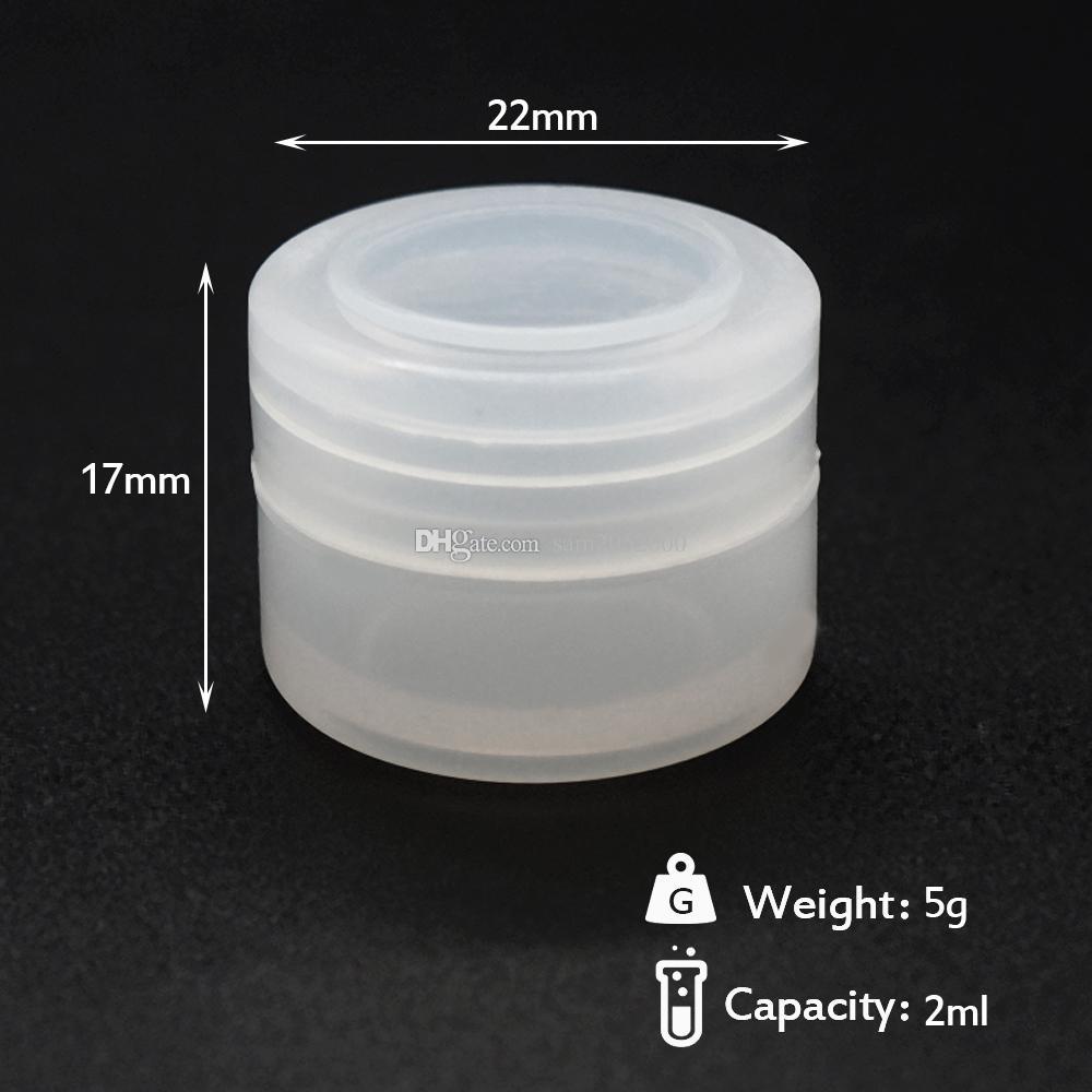2ml jars clear silicone container Non-stick Silicone For Wax Silicon Jars Dab Wax Container