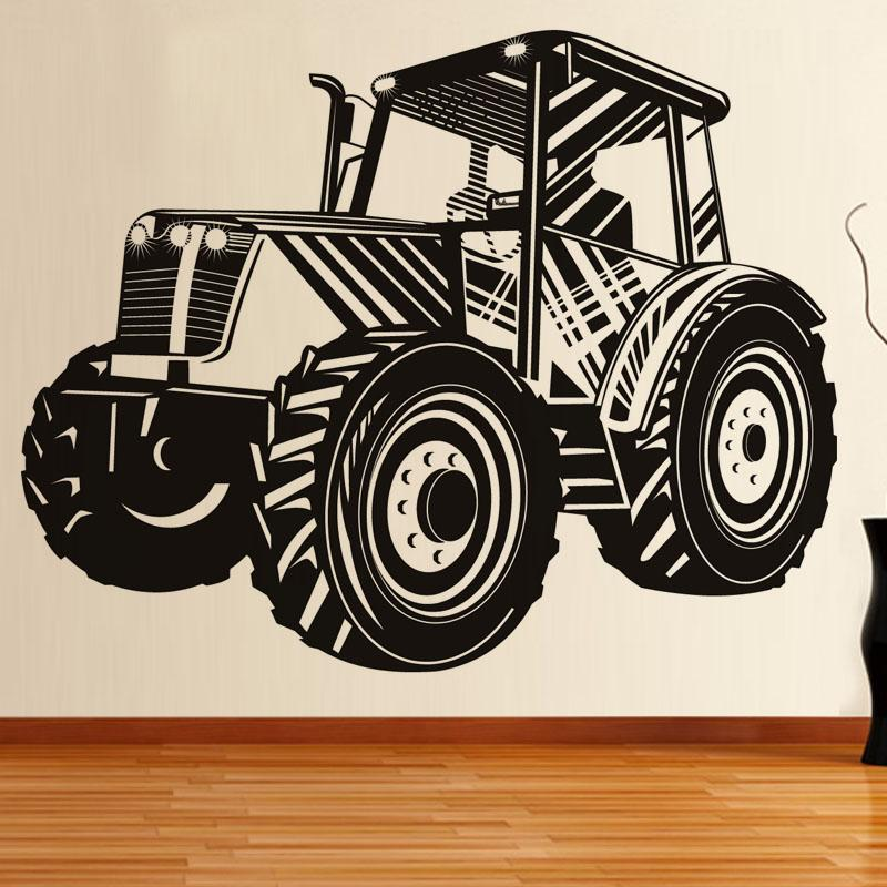 Driving Tractor Transport Wall Decal Vinyl Removable Self Adhesive