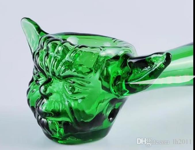 Santo bestas tubo de vidro, Tubos Atacado Bongs queimador de óleo de vidro tubulações de água Cachimbo de vidro plataformas petrolíferas fumadores frete grátis