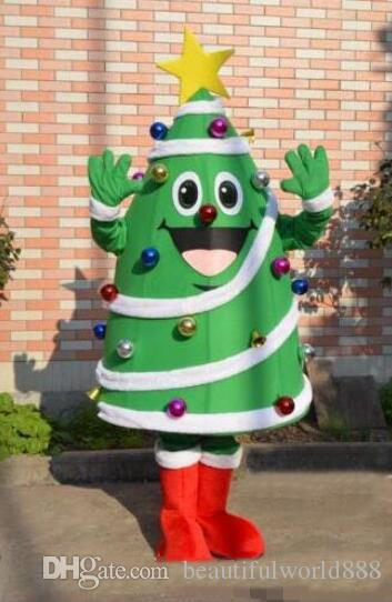 2018 High Quality Christmas Tree Mascot Costume With Big Yellow Star And Colorful Balls Newest Holiday Carnival Great Halloween Costumes Celebrity Costumes ... & 2018 High Quality Christmas Tree Mascot Costume With Big Yellow Star ...