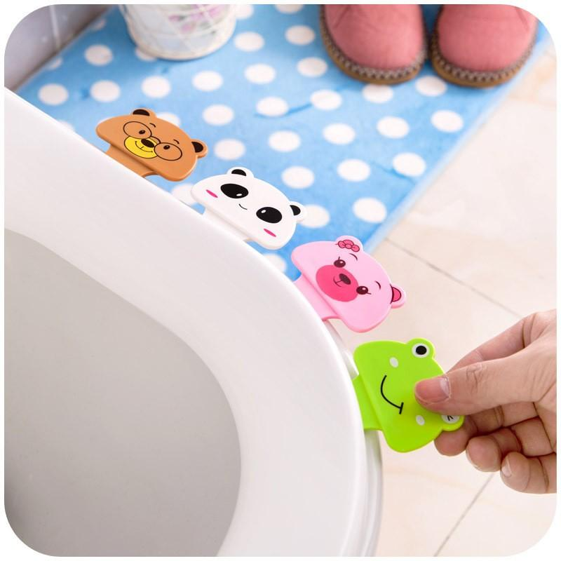New Cute Cartoon Toilet Cover Lifting Device Bathroom Toilet Lid Portable Handle Bathroom Toilet Seat Accessories
