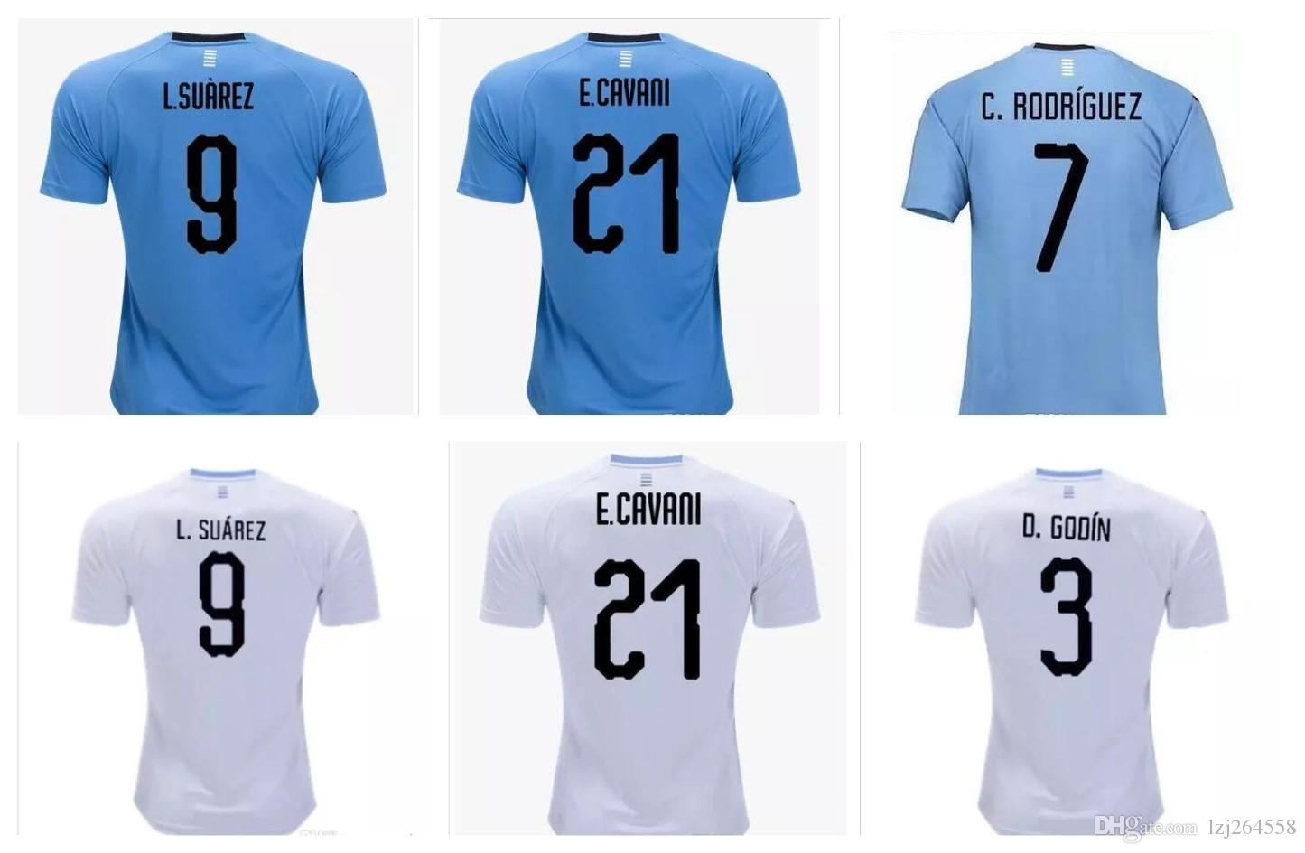 a4bcf37c93e48 2019 Whosales Camisa Uruguay 2018 World Cup Soccer Jerseys