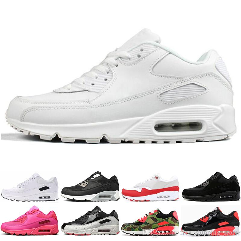 435ff1055723 New 90 Men Running Shoes Triple White Black ATMOS INFRARED Oreo Pink ...