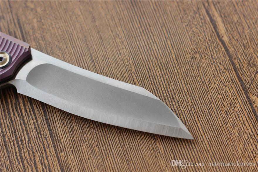 Libing Elf Flipper coltello da tasca pieghevole lama M390 titanio maniglia di caccia lama di campeggio di sopravvivenza coltelli tattici EDC coltelli strumenti di frutta