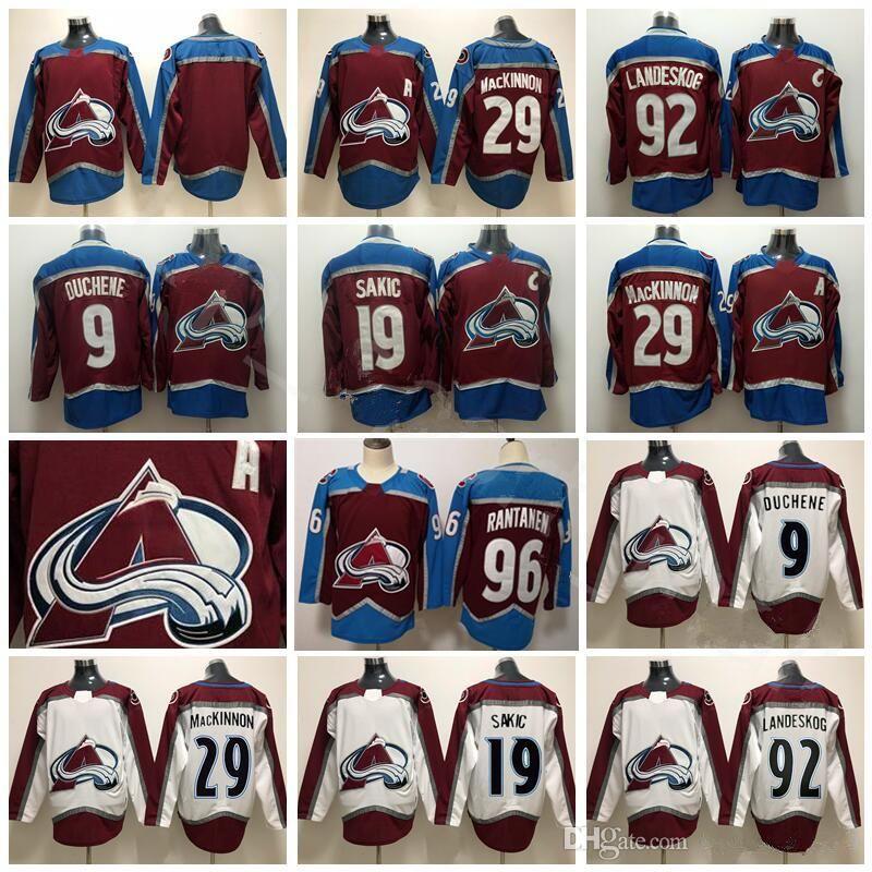 b08c2090334 ... authentic fights cancer stitched nhl jersey  colorado avalanche hockey  9 matt duchene jersey 96 mikko rantanen 19 joe sakic 29 nathan mackinnon
