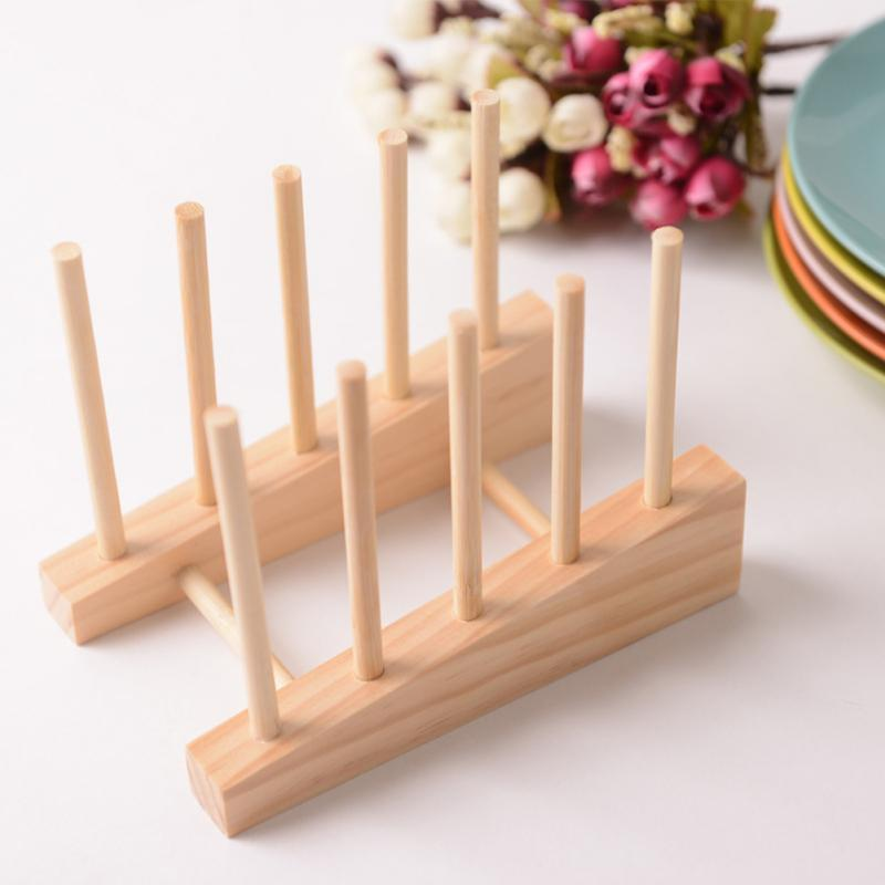 2018 Simplshelf Dish Rack Pots Wooden Plate Stand Wood Kitchen Cups ...