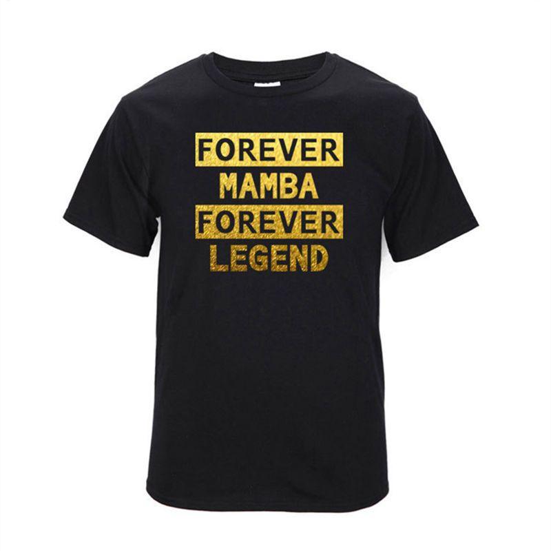 buy online 878c7 6e741 Forever Mamba Forever Legend Kobe Bryant T-shirt New Fashion Men Short  Sleeve Cotton O-neck T Shirt Casual Hip Hop Letter Tops