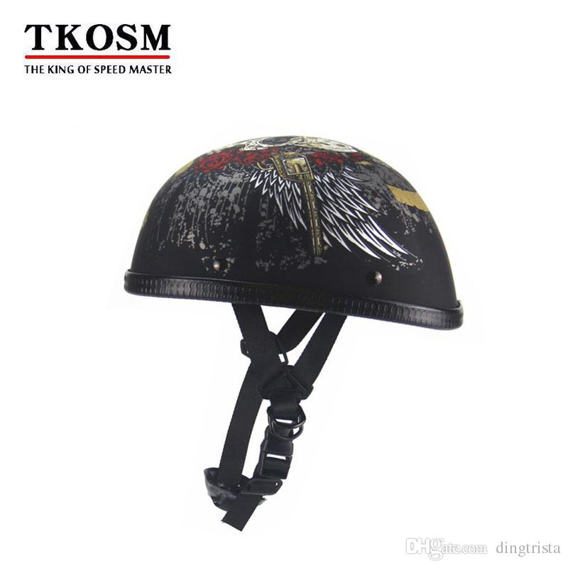 7fe5d4b8 TKOSM Vintage Motorcycle Motorbike Vespa Open Face Half Motor Scooter  Helmets With Goggles Visor Helmet For Motorcycle Helmet For Motorcycles  From ...
