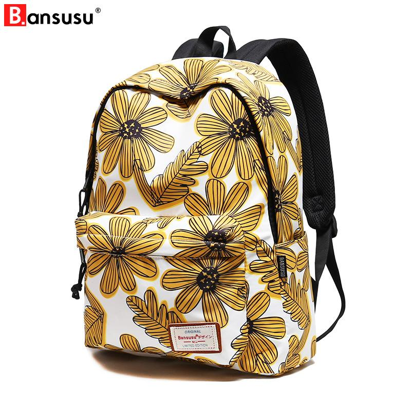 5d03b1954386c New Floral Printing Schoolbag Girls School Backpack Casual Bag Printing Female  Backpack For 2018 College Student Laptop Dakine Backpacks Back Pack From ...