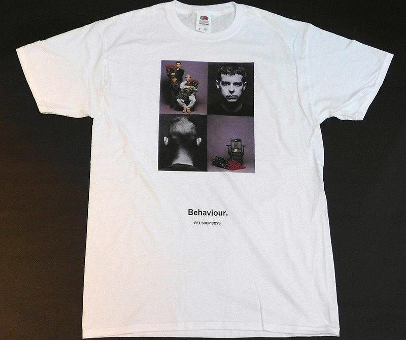 f7e58be80 PET SHOP BOYS Behaviour T Shirt Men MEDIUM/ LARGE Top Tee For Sale Natural  Cotton Tee Shirts Online Shopping T Shirt Cool Shirts Online From Biyue2,  ...