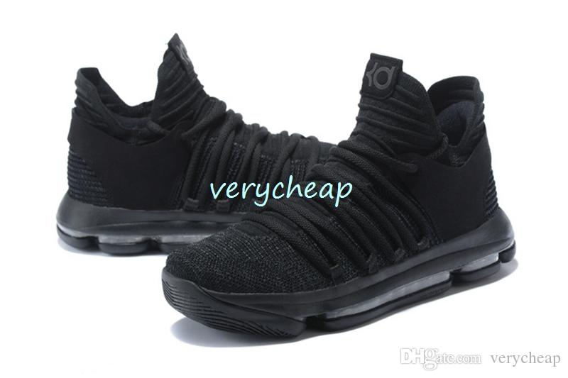 6647b67806e7 2018 New KD 10 Triple Black Shoes Mens Triple Black KD X All Black Casual  ShoesFor Sale Size US 7 12 Shoes For Men Sports Shoes From Verycheap