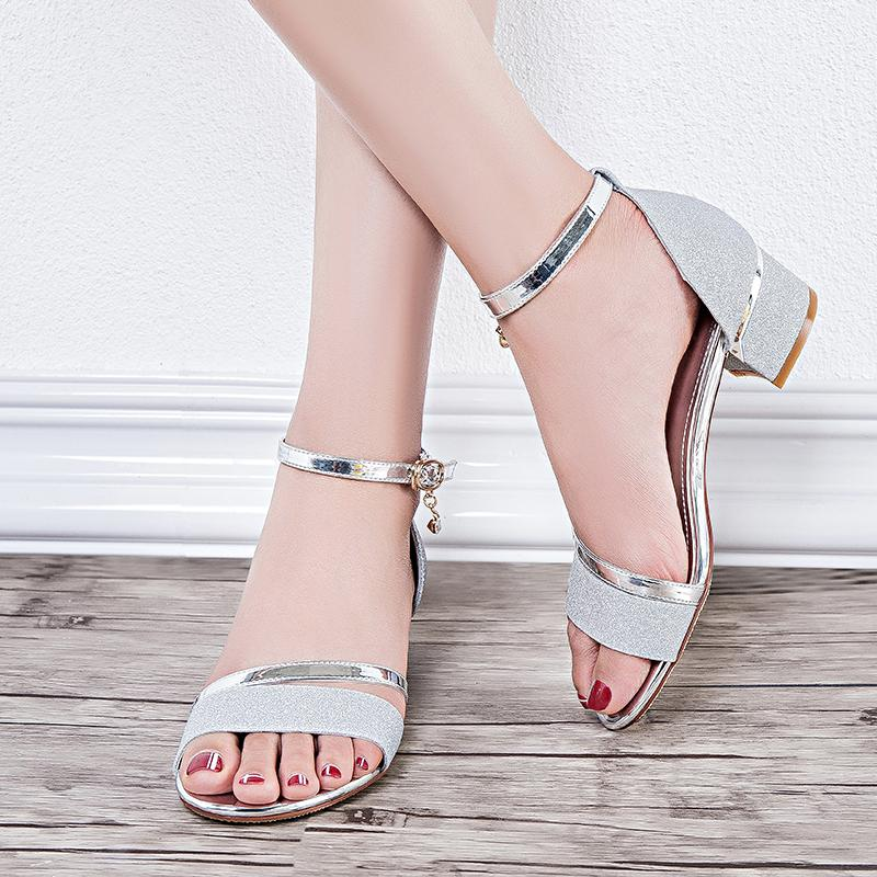 7f2ea8f5895 Summer Breathable And Comfortable Sandals Party Wear For Women Medium Heels  Flip Flops Wedding Shoes Young Ladies Size 35 40 Black Sandals Ladies  Sandals ...