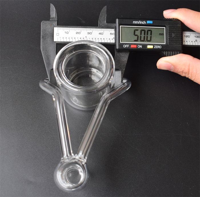 50mm XXL Thermal P Banger Nail Quartz Banger Nail para tubos de agua de vidrio Dab Oil Rigs Glass Bongs