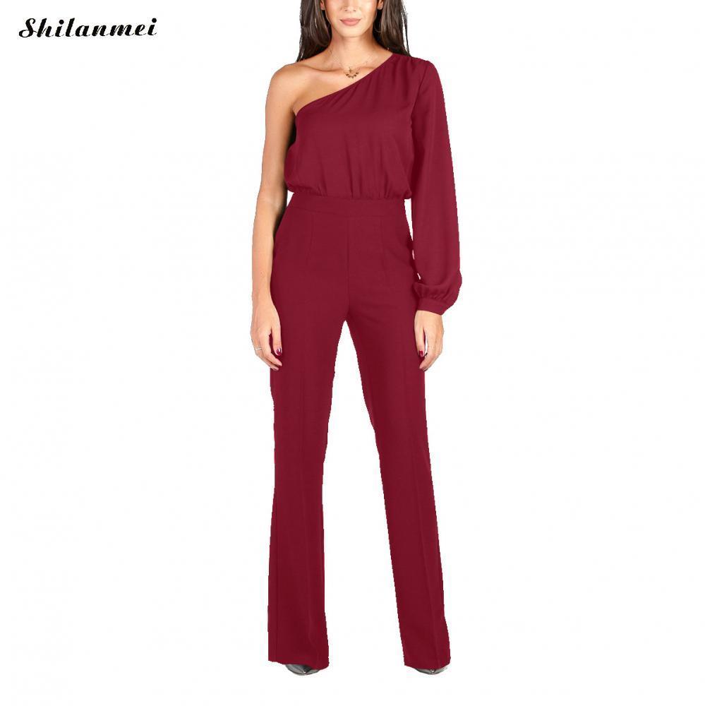 3e2dc2fd6ba1 One shoulder jumpsuit for women summer long sleeve jpg 999x1000 One  shoulder jumpsuit for women