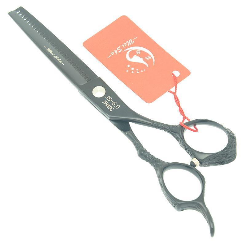 "6.0"" Meisha Black Painting Thinning Shears Hair Scissors Sharp Edge Hair Cutting Tesoura Barber Razor Salon Hairstyle Beauty Products HA0409"