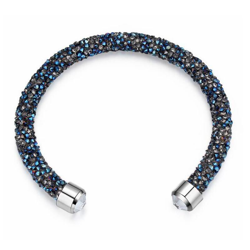 2019 Made With Crystals From Swarovski Elements Rolled Rocks Cuff Bangle  Womens Bracelet   Bangles Jewelry Fashion Female Birthday Gift From  Chenli123 6b2aee7a4