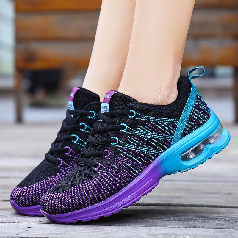 09166ece6 Compre ZHENZU Sapatos Esportivos Mulher Tênis Mulheres Femininos Tênis De  Corrida Respirável Oco Lace Up Chaussure Femme Alta Qualidade De Kimgee, ...
