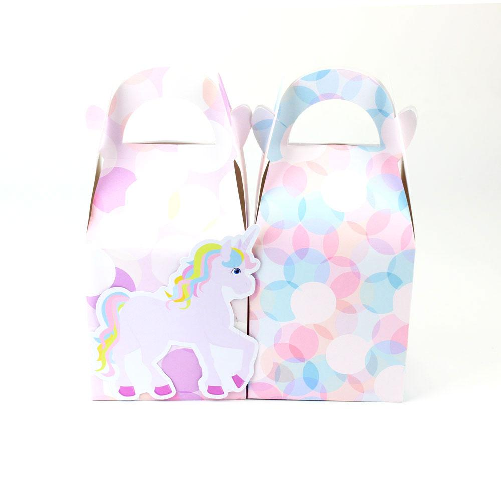 Rainbow Unicorn Favor Candy Gift Box Cupcake Box Girl Kids Birthday ...