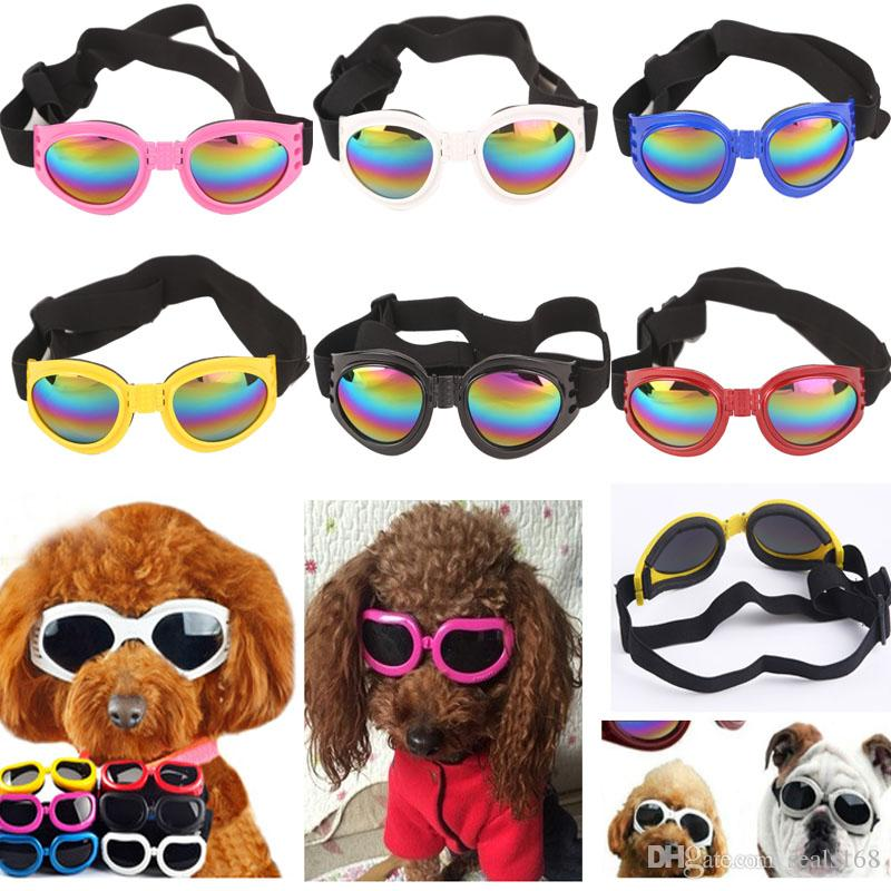 5 Colors Dog Glasses Foldable Sunglasses Medium Large Dog Glasses Big Pet Waterproof Eyewear Protection Goggles UV Sunglasses DHL HH7-1207