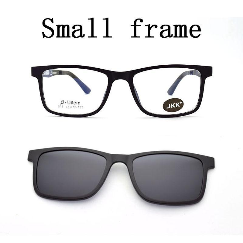 Ultra-light Narrow Face Frame Magnet Clip Sunglasses Myopia Glasses ...