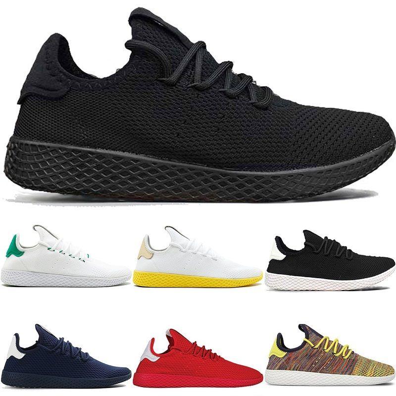 5f54827c6384f 2019 New Pharrell Williams X Stan Smith Tennis Men Women Running Shoes HU  Primeknit White Green Blue Red Mesh Sports Sneaker Size 36 45 From ...
