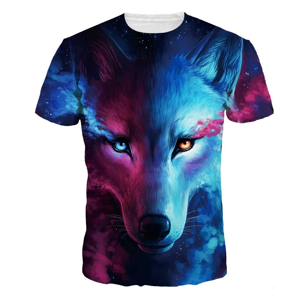Novelty Galaxy Wolf Animal Print T Shirts Mens Womens Unisex Short Sleeve T  Shirt Graphic Tee Shirt O Neck Tops Tee Shirt For Sale Worlds Funniest T  Shirts ... 3d3888e06