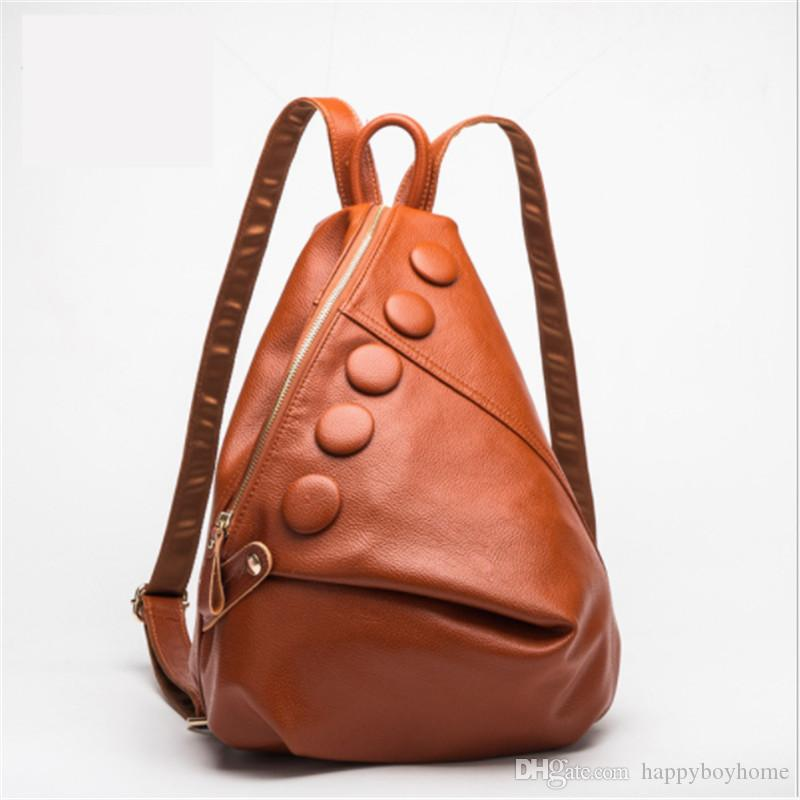 5166a7c7577c 2018 Brand Leather Women S Bag Travel Backpack