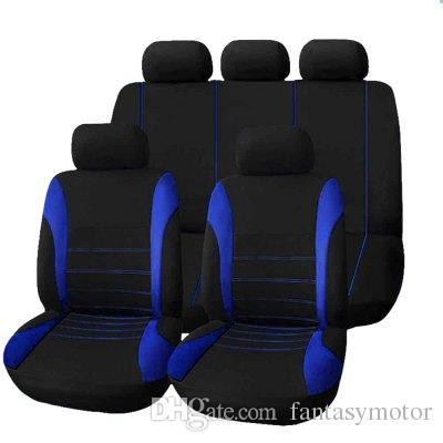 عالمي غطاء مقعد سيارة 9 مجموعة كاملة يغطي مقعد crossovers سيدان اكسسوارات السيارات الداخلية غطاء كامل مجموعة للعناية بالسيارات يغطي كامل مقعد
