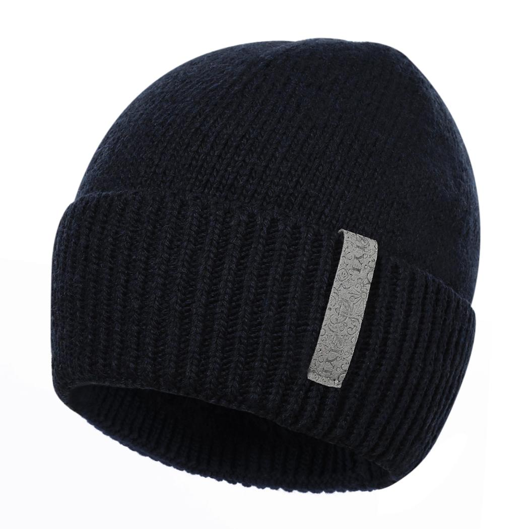 a2386048f92456 2019 Fashion Mens Hat Winter Spring Plus Velvet Thick Warm Beanie Caps  Casual Men Solid Knitted Skullies Hats Bonnet Gorros From Peachguo, $40.59  | DHgate.