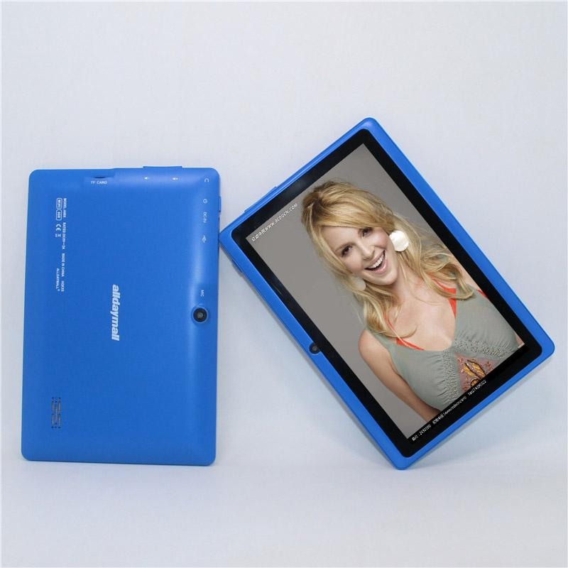 50% off!!!7 Inch A88X Tablet PC Allwinner A33 Quad core Android 4.4.2 512MB+8GB 1024*600 Dual cameras WiFi Blue color tablet