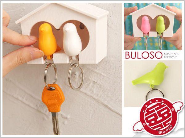 Yaratıcı Renkli Kolye Düdük Anahtarlık Aşk Kuş Sevgililer Evi Anahtarlık Suite Ev Mobilya Moda Hediyeler