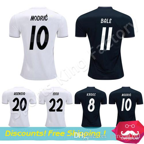 Real Madrid Soccer Jersey 2019 Chandal Bale Football Jersey 18 19 ... 31cfb23d229c4