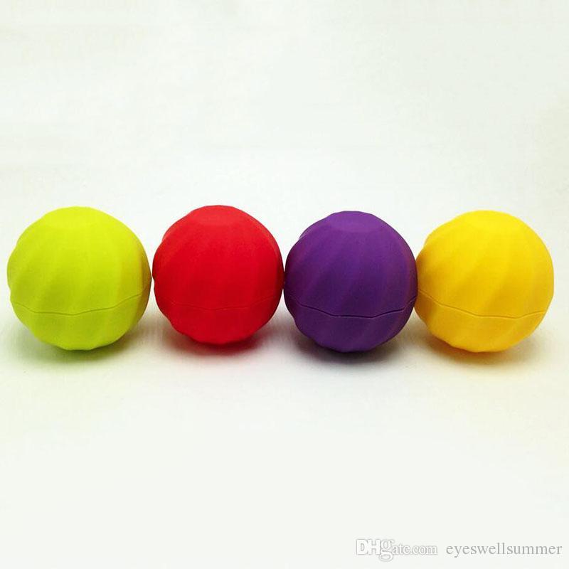 Blank Cosmetic Ball Container 7g Lip Balm Jar Eye Gloss Cream Sample Case Red Orange Purple Green Black