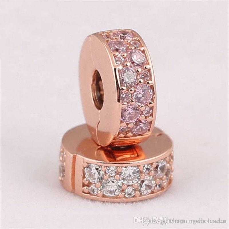 c23ae6287 2019 Pink Rose Clip Charms Fits Pandora Style Bracelets Shining Elegance  781817CZ H9 From Charmingwholesaler, $52.02 | DHgate.Com