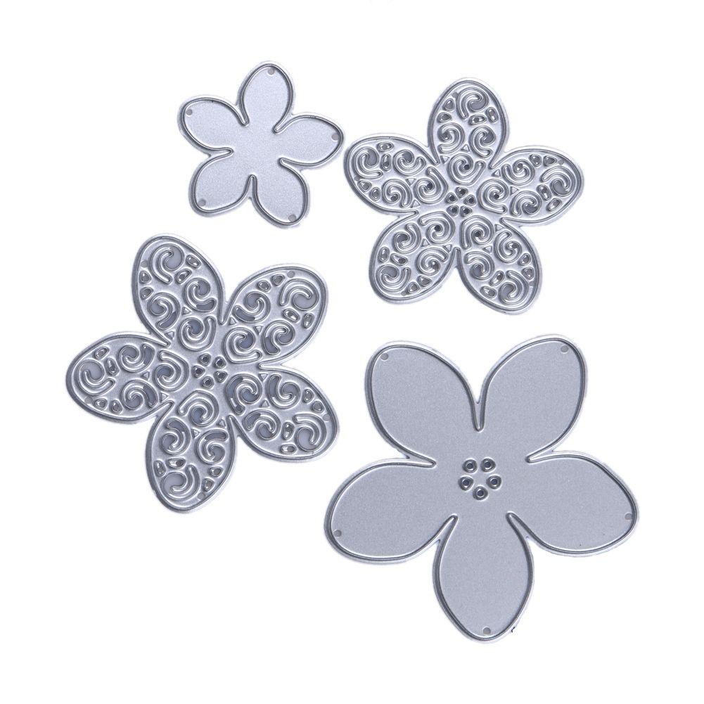 2018 Cheap Cutting Dies 4 Style Flower Metal Cutting Dies Stencils ...