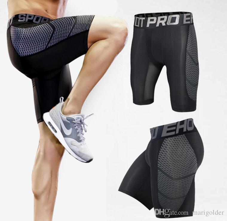 Men's Compression Shorts Bodybuilding Quick Dry Fitness Tight Shorts Sweat Sport Short Trousers Gym Men's For Running