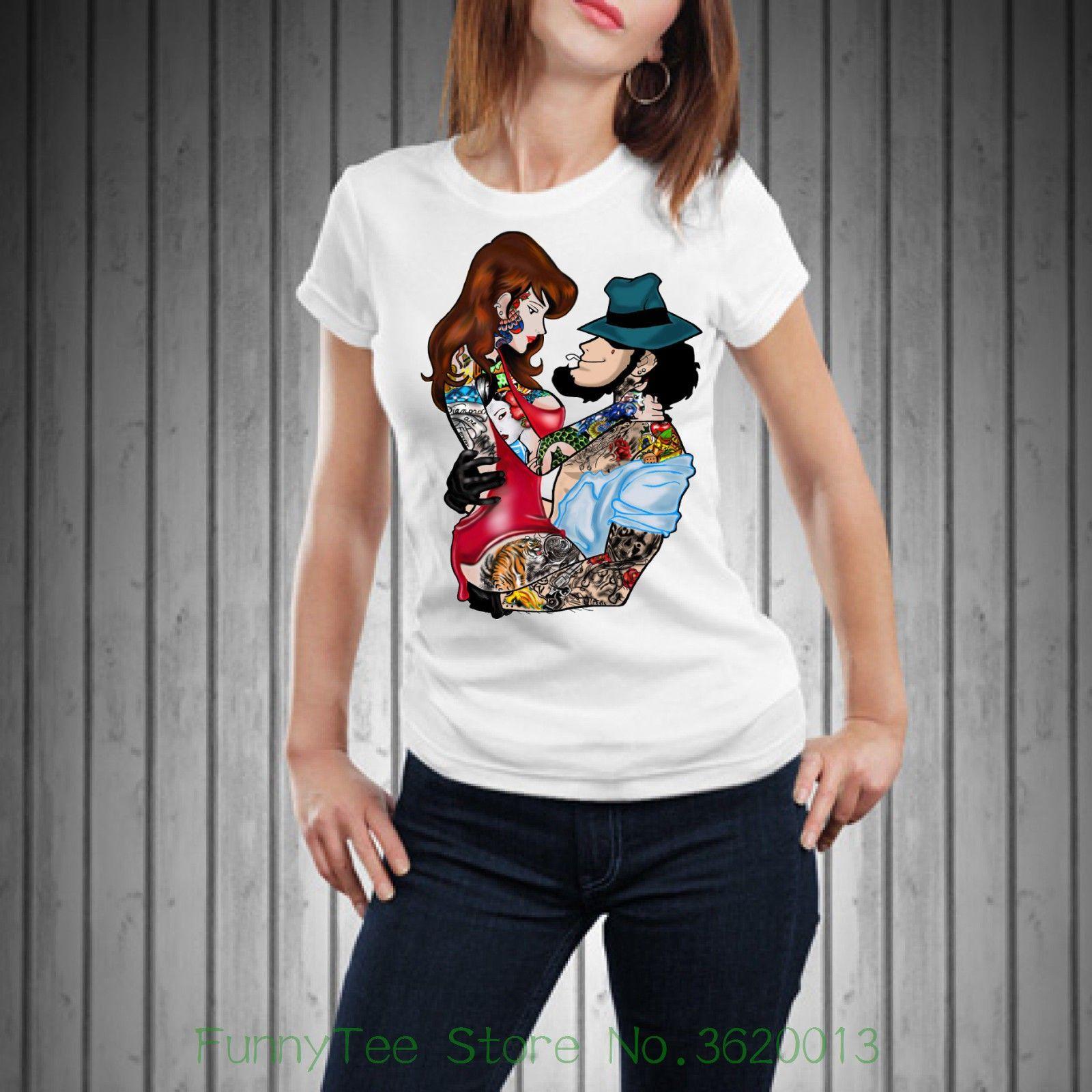 t shirt donna divertenti  Acquista T Shirt Da Donna T Shirt Donna Divertente Fujiko Jigen ...
