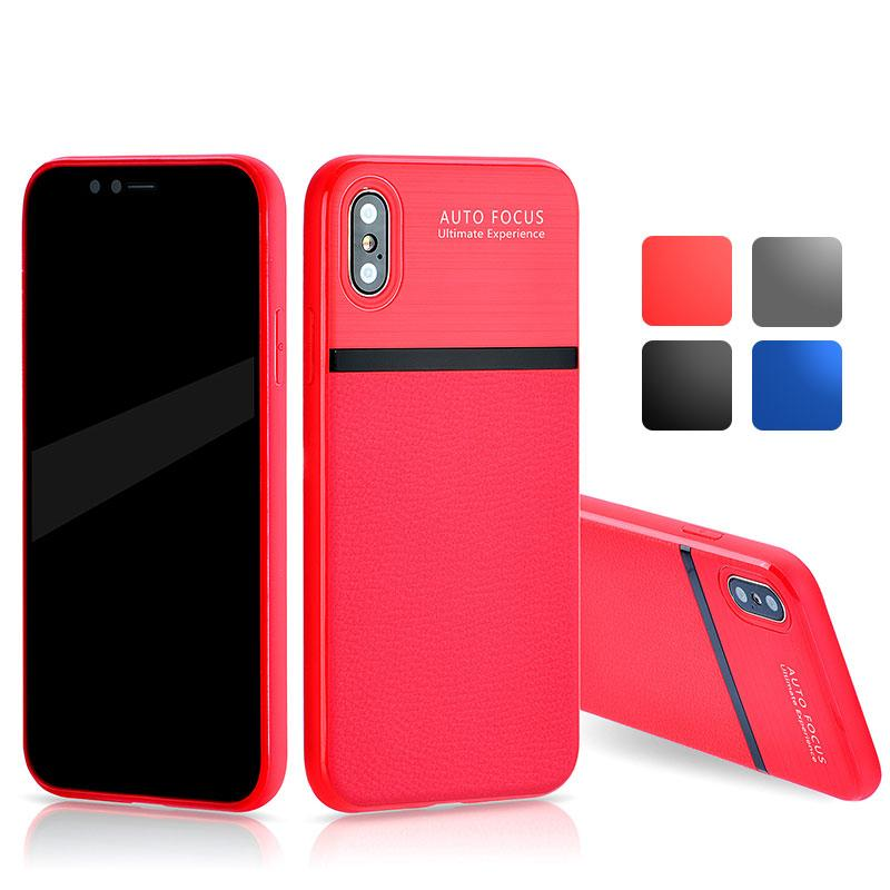 for iphone 6 8 plus x leather tpu soft rubber mobile phone case