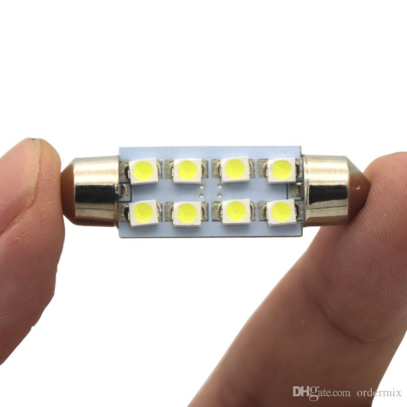 1pcs White Canbus Festoon LED lights 36mm C5W C10W DE3175 6 SMD 5630 5730 No Error Free Auto Car Interior Map Lamp Reading Dome