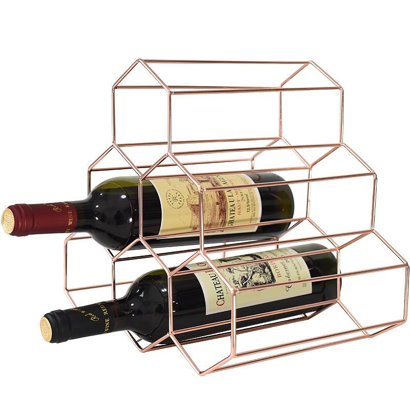 2019 Nordic Simple Wine Rack Creative Honeycomb Wine Holder Home