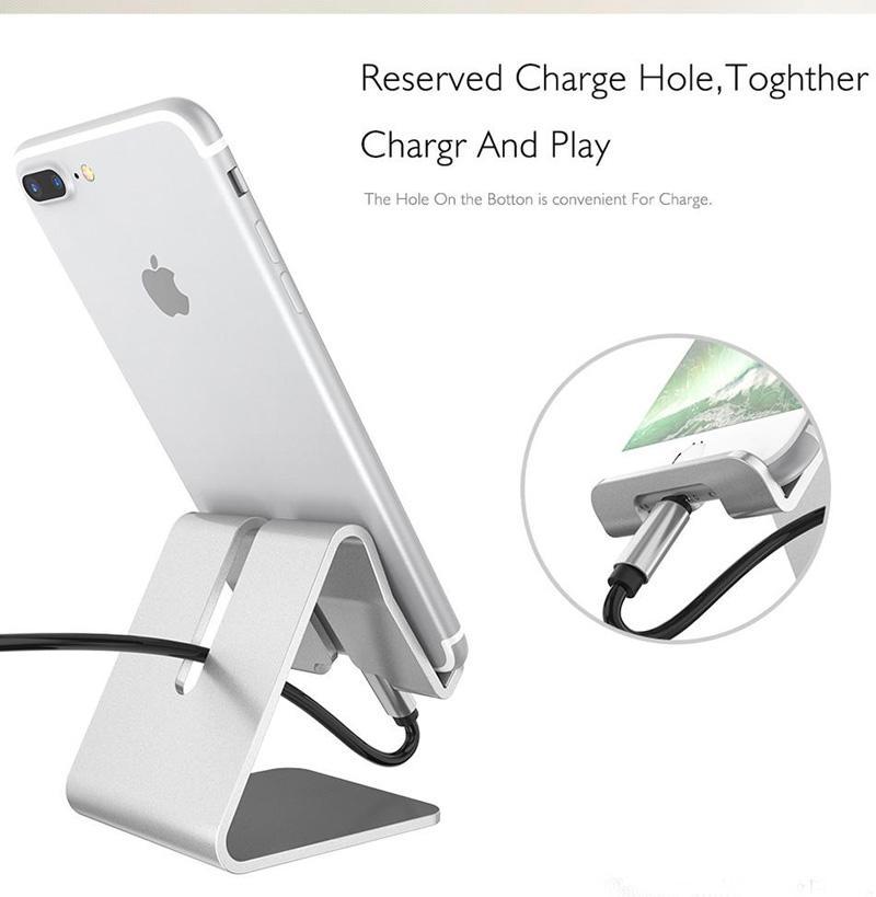 Universale in alluminio metallo cellulare tablet pc desk stand supporto del supporto staffa iphone 6 6 s 5 s se galassia nota 5 mq100
