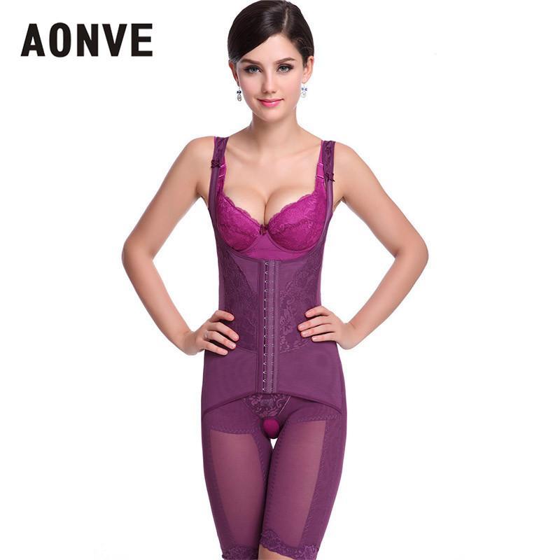 671ba1f85 AONVE Bodysuit Women Waist Trainer Body Control Shaper Butt Lifter ...