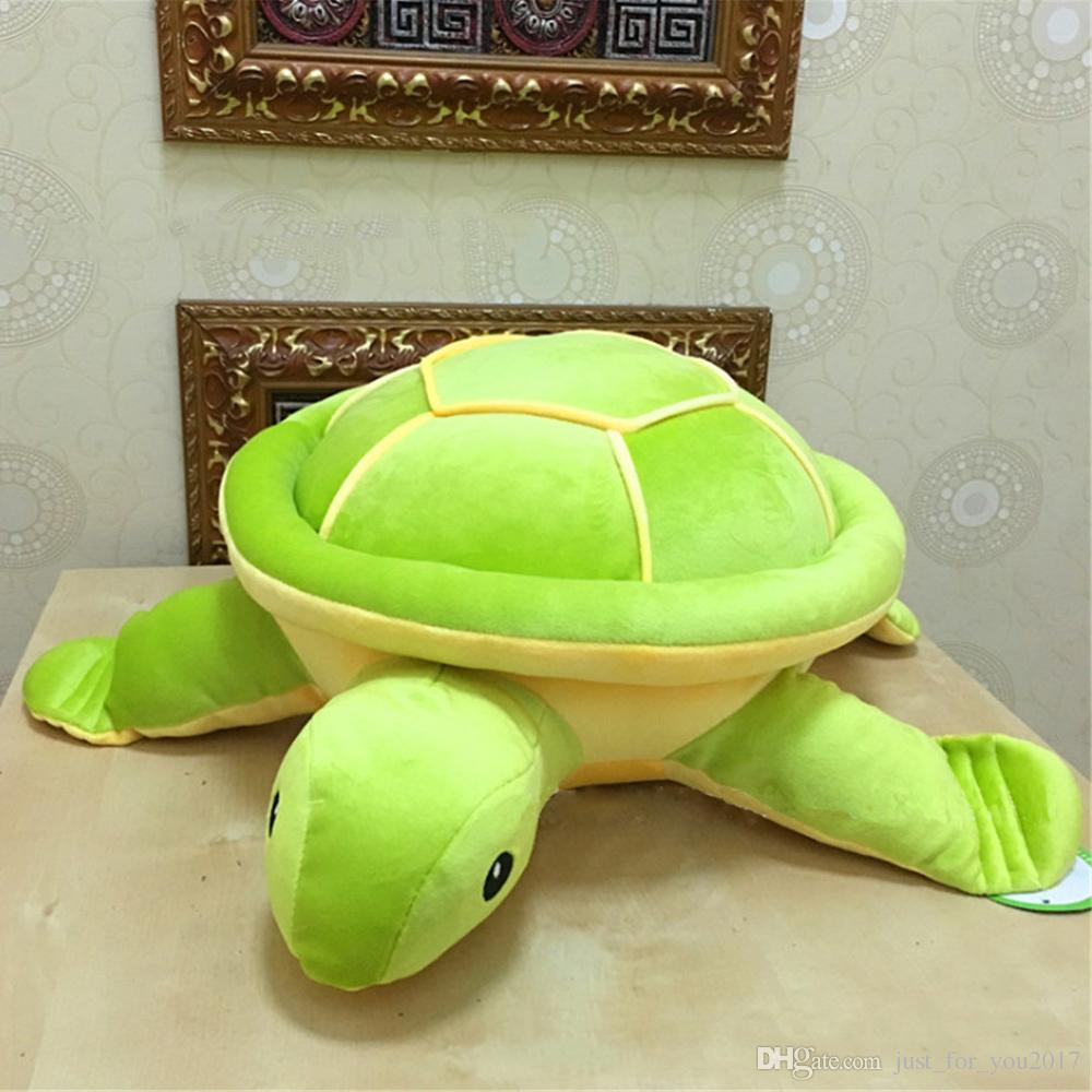 2019 Cute Big Giant Turtle Plush Toys Soft Stuffed Animals Green