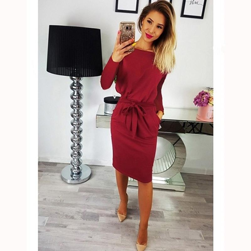 2018 Summer Women Dress Knee-Length Sexy Bandage Bodycon Dress Short Sleeve  Solid Casual Dresses Sundress Vestidos Female Online with  40.24 Piece on  ... e569163ea67e