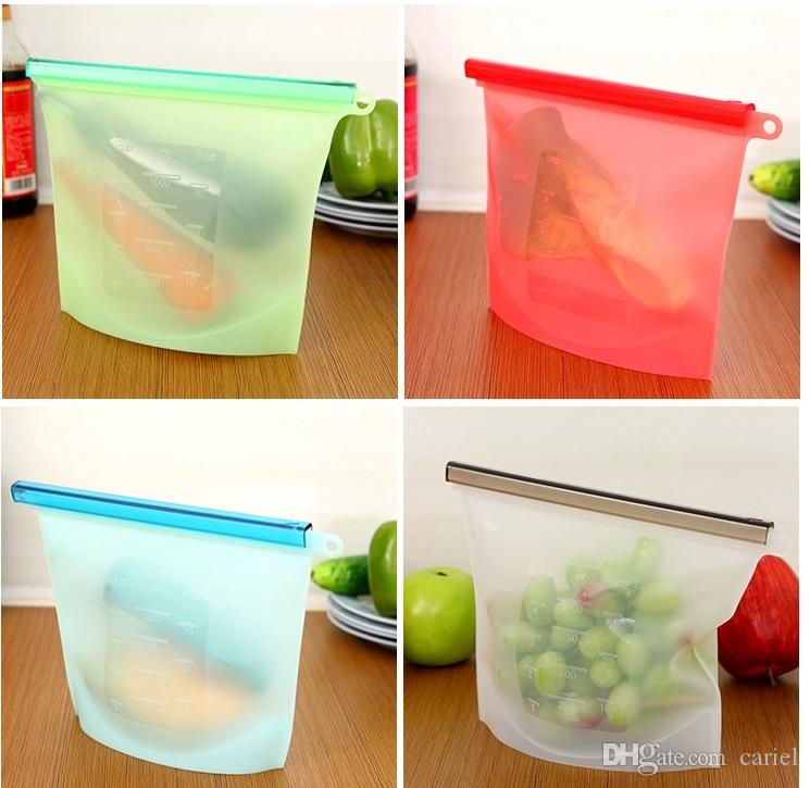 kitchen Tools Storage Bags Silicone Fresh Storage Bags Food Preservation For Home Food kitchen Organization Gadgets wn349