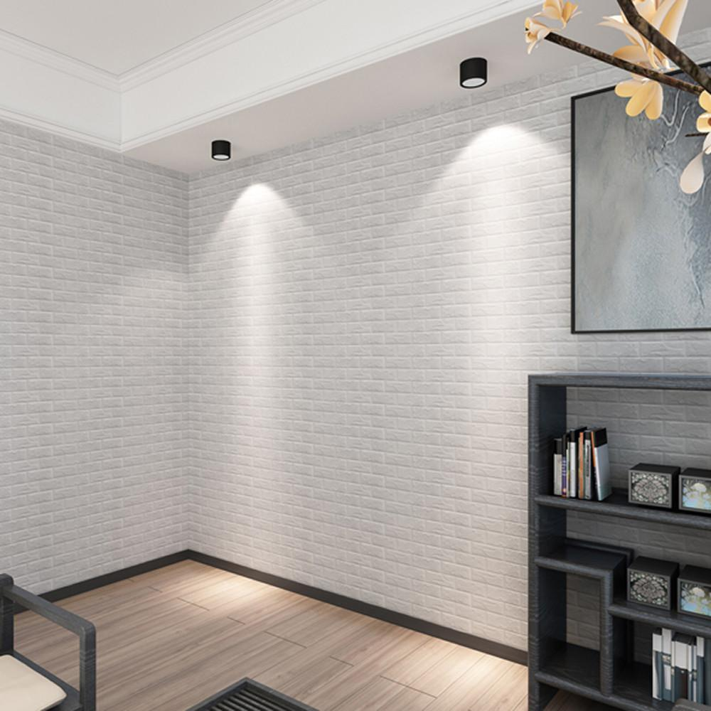 PE Foam 3D Wallpaper DIY Wall Stickers Embossed Brick Stone vinilos adhesivos decorativos pared duvar sticker room Wall Decor
