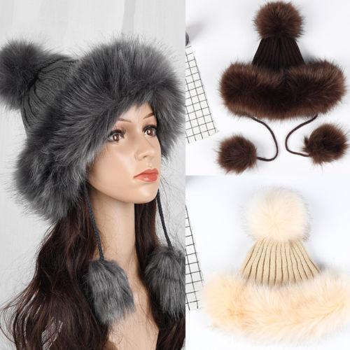 2c79bd66b01f New Winter Women Fashion Baggy Caps Beanie Winter Hat Warm Wool Ski ...