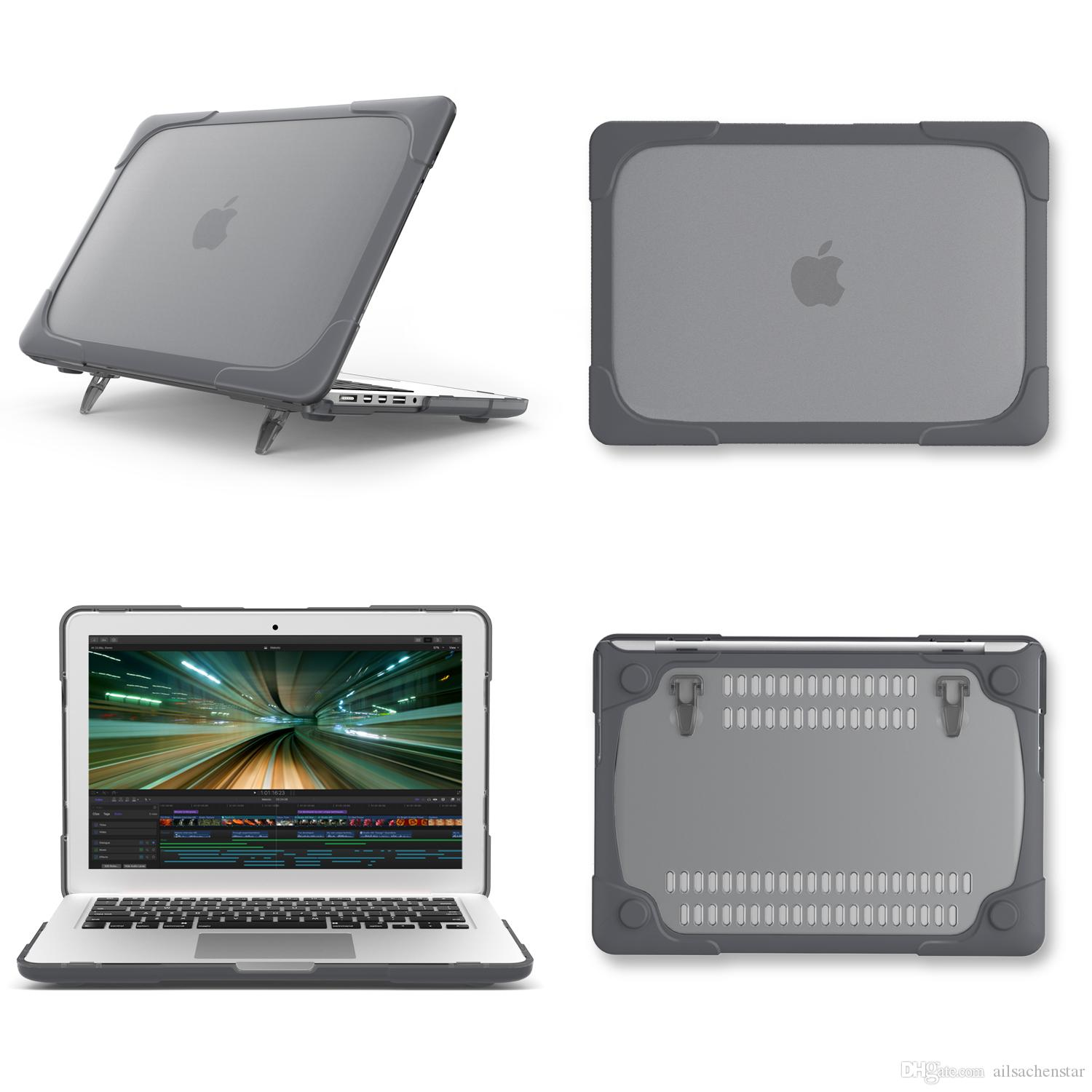 uk availability d6030 77353 Protective Hard Case For Macbook New Pro 13 with /No touch bar A1706/A1708  Laptop Sleeve Cover Grey